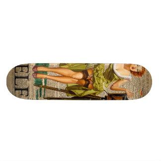 Pin encima del chica que hace arte del diccionario tabla de skate