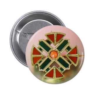 Pin escocés del jaspe del oro de la ágata