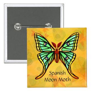 Pin español de la broche de la polilla de la luna