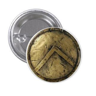 Pin espartano del escudo pin redondo 2,5 cm