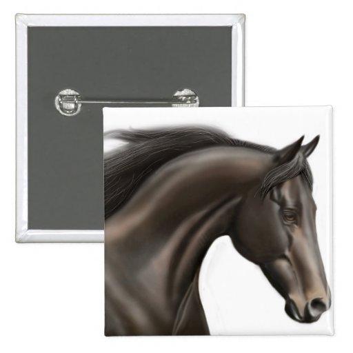 Pin excelente del caballo pin cuadrada 5 cm