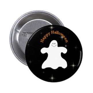 Pin fantasmal del feliz Halloween Pin Redondo 5 Cm