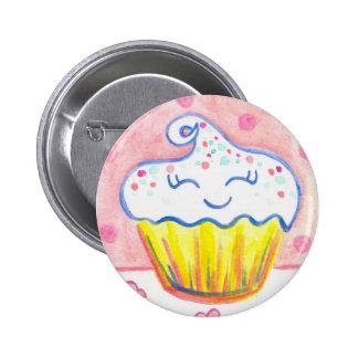 Pin feliz del botón de la tarjeta del día de San V