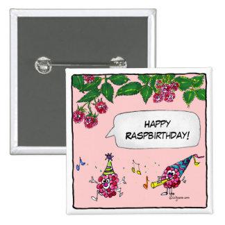 Pin feliz del botón de Raspbirthday