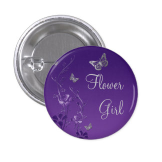 Pin floral del florista de la mariposa de plata pú