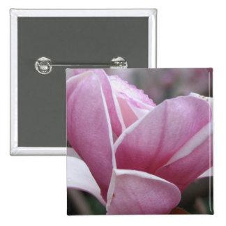 Pin floreciente del árbol de la magnolia pin cuadrada 5 cm