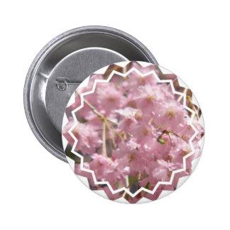 Pin floreciente del cerezo pin redondo 5 cm