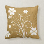 Pin Flowers Throw Pillows