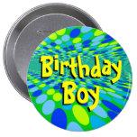 Pin fresco del botón del muchacho del cumpleaños