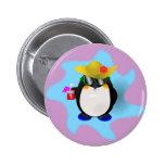 Pin fresco del pingüino del verano