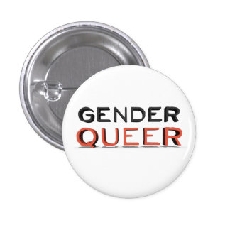 "Pin - ""GenderQueer"" (white)"