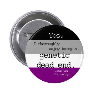 Pin genético asexual del callejón sin salida pin redondo 5 cm