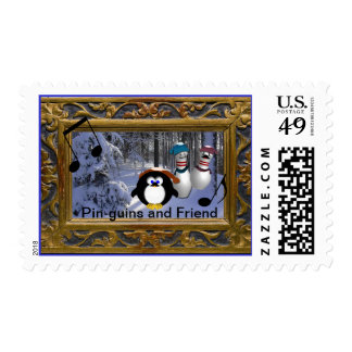 Pin-guins and Friend Stamp
