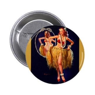 Pin hawaiano de Gil Elvgren Hula del vintage ENCIM