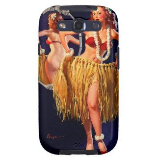 Pin hawaiano de Gil Elvgren Hula del vintage ENCIM Samsung Galaxy S3 Cobertura