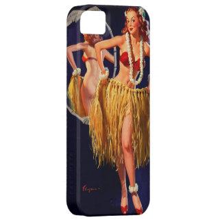 Pin hawaiano de Gil Elvgren Hula del vintage ENCIM iPhone 5 Protector