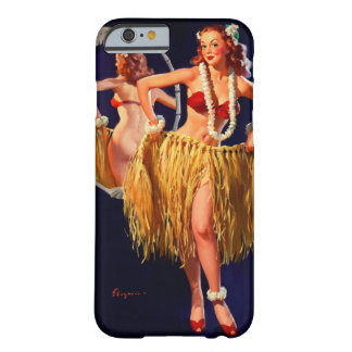 Pin hawaiano de Gil Elvgren Hula del vintage Funda Barely There iPhone 6