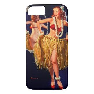 Pin hawaiano de Gil Elvgren Hula del vintage Funda iPhone 7