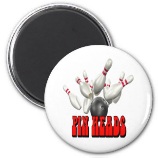 Pin Heads Bowling Refrigerator Magnet