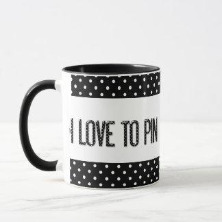 [PIN] I Love To Pin in Polka-dots Mug