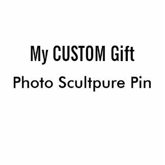 Pin impreso personalizado de la escultura de la pin fotoescultura