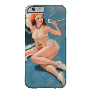 Pin indio del chica encima del arte funda para iPhone 6 barely there