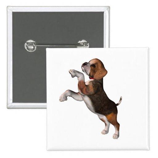 Pin juguetón del beagle