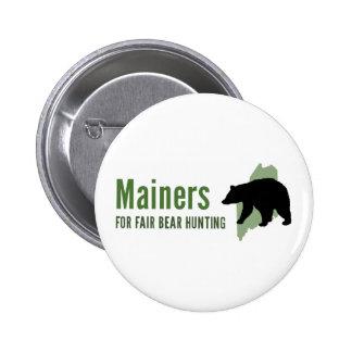 Pin justo de la caza del oso