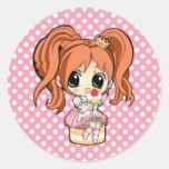 Pin kawaii! classic round sticker