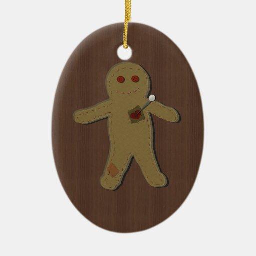 Pin la maldición en el ornamento de la muñeca del ornamento de navidad