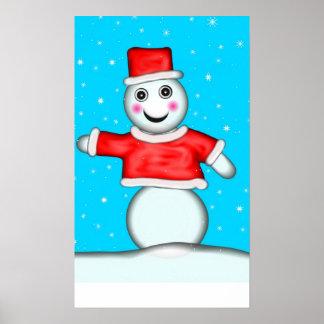 Pin la nariz en el juego del muñeco de nieve posters