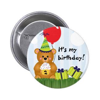 Pin lindo adaptable del cumpleaños del oso de pelu