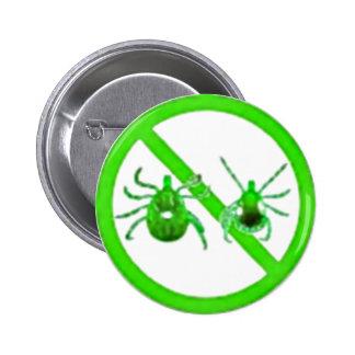 Pin Lyme Disease Awareness Green Ticks