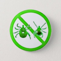 Pin, Lyme Disease Awareness (Green Ticks) Pinback Button