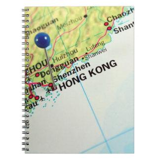 Pin Map of Hong Kong Spiral Notebook