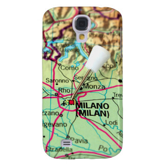 Pin Map of the city of Milan, Italy Samsung Galaxy S4 Case