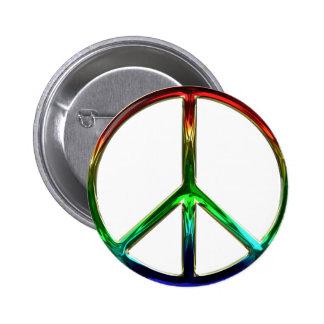 Pin maravilloso del botón del signo de la paz