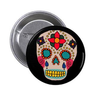 Pin mexicano del cráneo del azúcar del arte popula