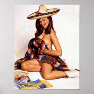 Pin mexicano para arriba póster
