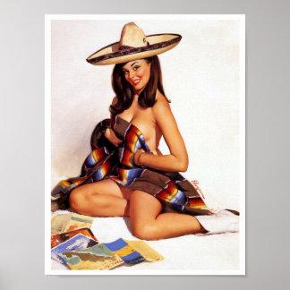 Pin mexicano para arriba poster