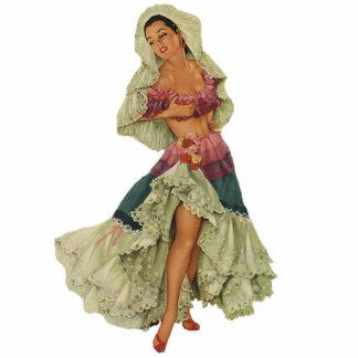 Pin modelo encima del chica escultura fotografica