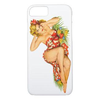 Pin modelo encima del chica funda iPhone 7