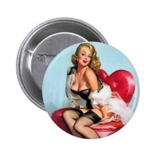 Pin modelo retro de Gil Elvgren del arte del vinta
