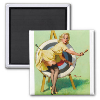 Pin modelo retro de Gil Elvgren del arte del vinta Iman De Frigorífico