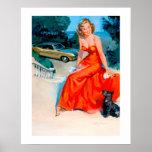 Pin modelo retro de Gil Elvgren del vintage encima Posters