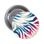 Pin (moreno, azul, modelo rosado de la cebra)