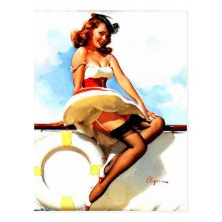 Pin náutico del marinero de Gil Elvgren del vintag Tarjetas Postales