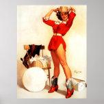 Pin occidental retro de Gil Elvgren del vintage EN Impresiones