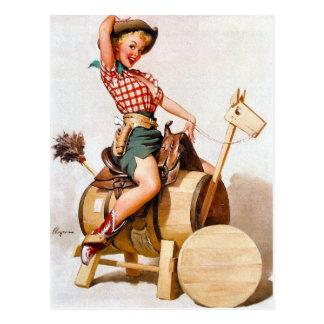 Pin-Para arriba 2 de la vaquera Tarjeta Postal