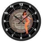 Pin-Para arriba auto de la reparación del servicio Reloj Redondo Grande